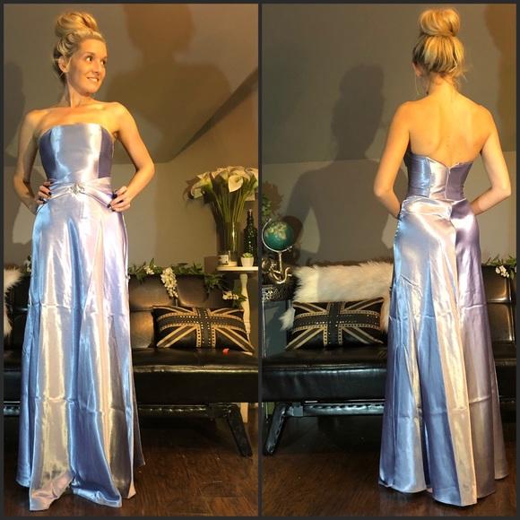 18f72eee1c5 Jessica McClintock Dresses   Skirts - McClintock Purple Strapless Stain  Long Prom Dress